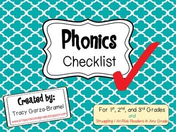 Phonics Checklist