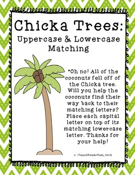 Literacy Center Back to School Upper and Lowercase Matching