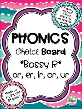 Phonics Choice Board: Bossy R