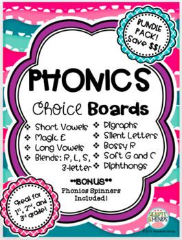 Phonics Choice Board Bundle