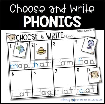 Phonics Choose and Write (from Phonics Bundle 3)