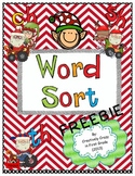 Christmas Inspired Phonics Word Sort Freebie With Blends (ch, sh, th)