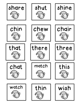 christmas inspired phonics word sort freebie with blends ch sh th