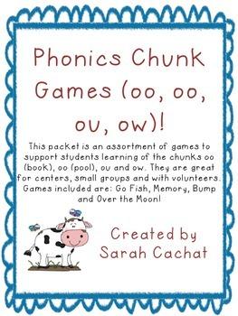 Phonics Chunk Game Pack (oo, oo, ou, ow)