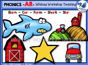 Phonics Clip Art: AR Words - Whimsy Workshop Teaching