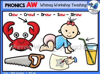 Phonics Clip Art: AW Words - Whimsy Workshop Teaching