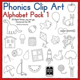 Phonics Clip Art:  Alphabet Pack 1
