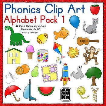 Phonics Clip Art:  Alphabet Pack 1 COLOR