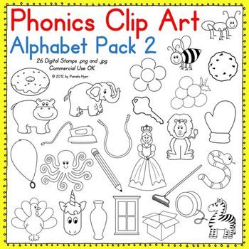 Phonics Clip Art:  Alphabet Pack 2