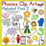Phonics Clip Art:  Alphabet Pack 2 COLOR