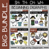 Phonics Clip Art Beginning Digraphs SH- TH- WH- CH- (Print & Digital BIG BUNDLE)