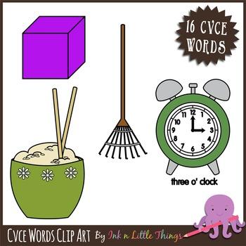 Phonics Clip Art - CVCE Words clipart
