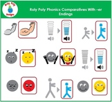 Comparatives With er Endings Phonics Clip Art by Roly Poly Designs