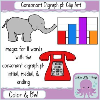 Phonics Clip Art: Consonant Digraph ph clipart