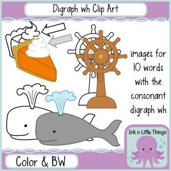 Phonics Clip Art: Consonant Digraph wh clipart