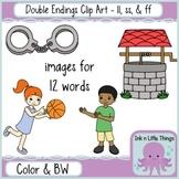 Phonics Clip Art: Double Endings ll, ff, & ss clipart