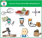 Ending Blends #1 Phonics Clip Art by Roly Poly Designs