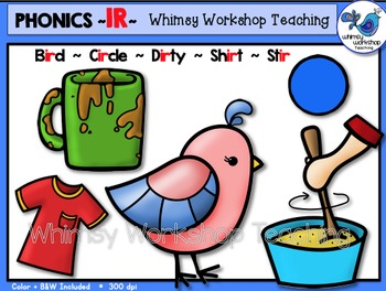 Phonics Clip Art: IR Words - Whimsy Workshop Teaching