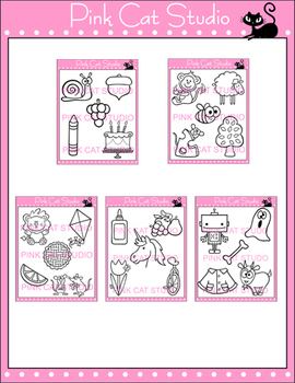 Phonics Clip Art Long Vowel Sounds Value Pack - Personal or Commercial Use