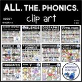 Phonics Clip Art MEGABUNDLE (1000+ clipart pieces)