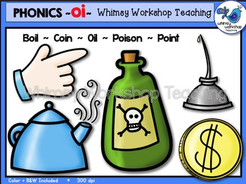Phonics Clip Art: OI Words - Whimsy Workshop Teaching