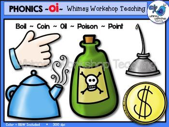 Phonics Clip Art: OI Words - Whimsy Workshop Teaching