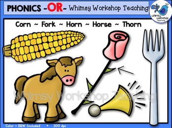 Phonics Clip Art: OR Words - Whimsy Workshop Teaching