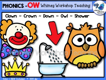 Phonics Clip Art: OW (as in owl) Words - Whimsy Workshop Teaching
