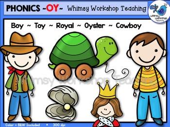 Phonics Clip Art: OY Words - Whimsy Workshop Teaching