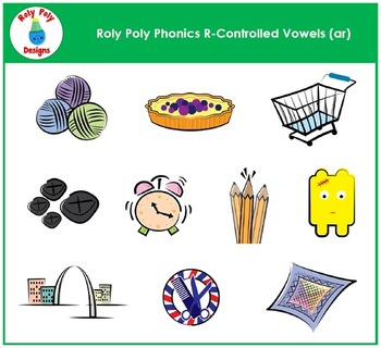 Vowel Sound AR: R-Controlled Vowel Sound Clip Art by Roly Poly Designs