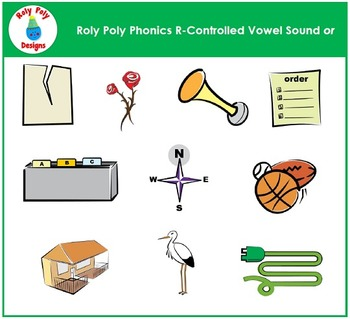 Vowel Sound OR: R-Controlled Vowel Sound Clip Art by Roly