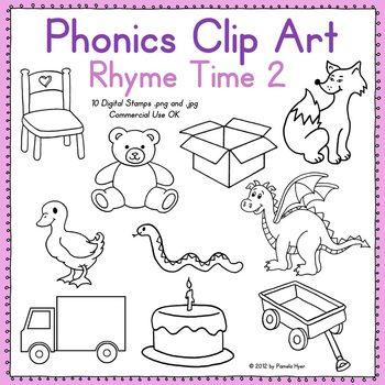 Phonics Clip Art:  Rhyme Time 2