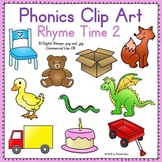Phonics Clip Art: Rhyme Time 2 COLOR