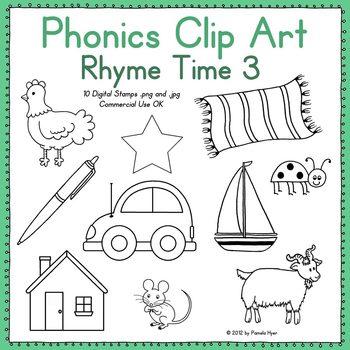 Phonics Clip Art:  Rhyme Time 3