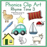 Phonics Clip Art:  Rhyme Time 3 COLOR