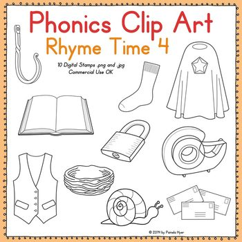 Phonics Clip Art:  Rhyme Time 4