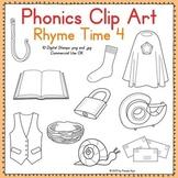 Phonics Clip Art:  Rhyme Time 4