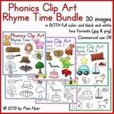 Phonics Clip Art:  Rhyme Time BUNDLE
