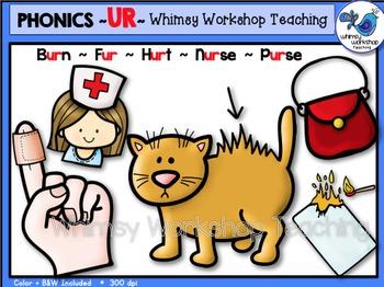 Phonics Clip Art: UR Words - Whimsy Workshop Teaching
