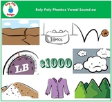 Vowel Sound OU Phonics Clip Art by Roly Poly Designs