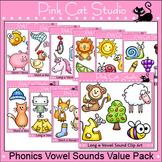 Long and Short Vowel Sounds Clip Art Value Pack