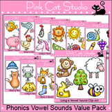 Vowel Sounds Clip Art Value Pack - Long Vowels and Short Vowels