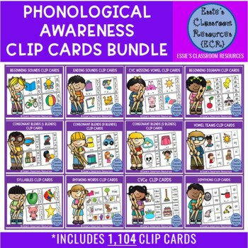 Phonics Clip Cards - BUNDLE