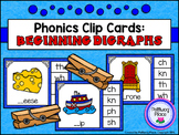 Phonics Clip Cards: Beginning Digraphs