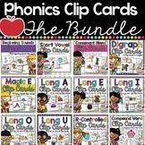 Phonics Clip Cards BUNDLE