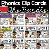 Phonics Clip Cards BUNDLE
