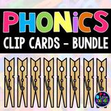Phonics Clip Card Activities - Phonics Centers Bundle