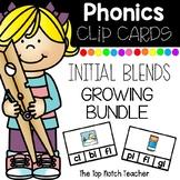 Phonics Clip Cards Initial Blends BUNDLE Low Prep