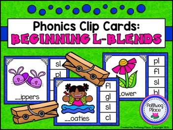 Phonics Clip Cards: L Blends