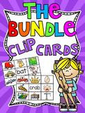Phonics Clip Cards Centers MEGA GROWING BUNDLE